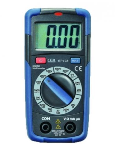DT-103 цифровой тестер, мультиметр