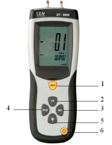DT-8890 Дифференциальный манометр
